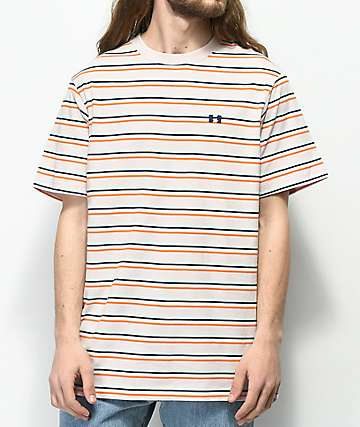 The Hundreds Vince Mauve Striped T-Shirt