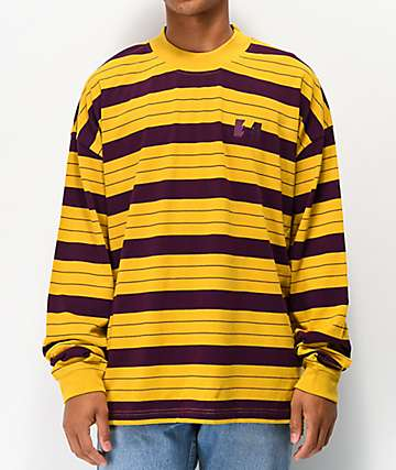 The Hundreds Vision Gold Striped Long Sleeve T-Shirt