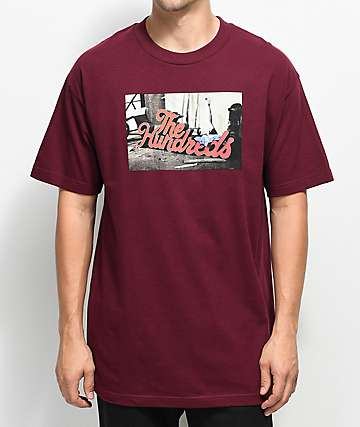 The Hundreds Wearhouse Burgundy T-Shirt