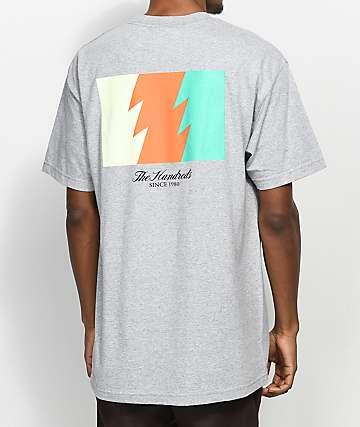 The Hundreds Wildfire camiseta gris con bolsillo