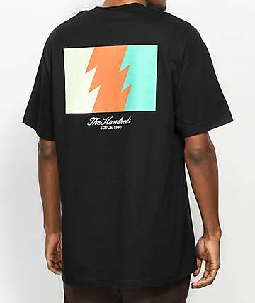 The Hundreds Wildfire camiseta negra con bolsillo