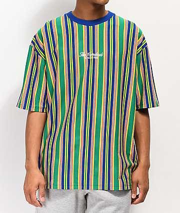 The Hundreds Zenith Striped Blue Knit T-Shirt