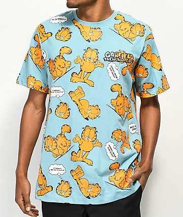 The Hundreds x Garfield Mood camiseta azul claro