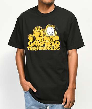 The Hundreds x Garfield Stack Black T-Shirt