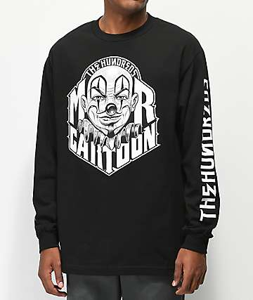 The Hundreds x Mr. Cartoon Letters Black Long Sleeve T-Shirt