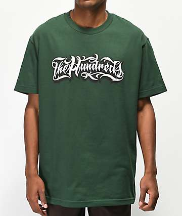 The Hundreds x Mr. Cartoon Wordmark Green T-Shirt
