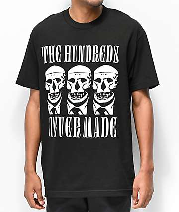 The Hundreds x Never Made Skull Black T-Shirt