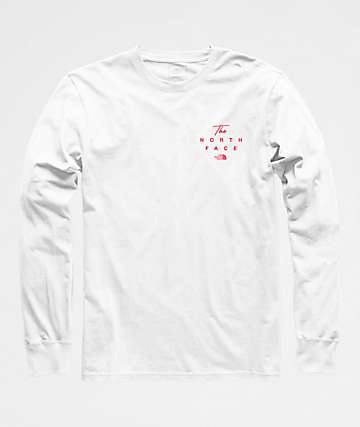 The North Face 90s Script White Long Sleeve T-Shirt