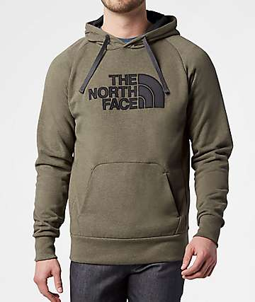 The North Face Avalon Half Dome Burnt Olive Green & Asphalt Grey Hoodie