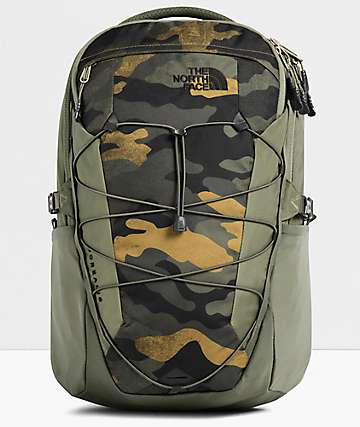 The North Face Borealis Burnt Olive Waxed Camo Backpack