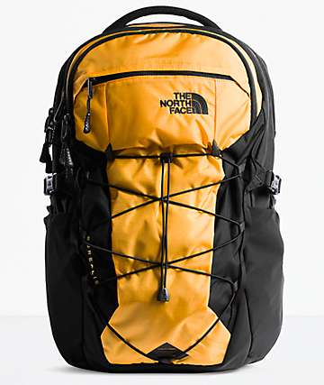 The North Face Borealis Yellow & Black Backpack