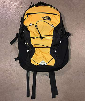 The North Face Borealis Yellow Ripstop & Black Backpack