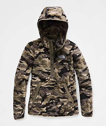The North Face Boys Campshire Camo Sherpa Hoodie