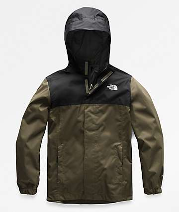 The North Face Boys Resolve Black & Green Jacket