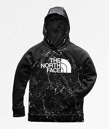 The North Face Boys Surgent 2.0 Black & Marble Hoodie