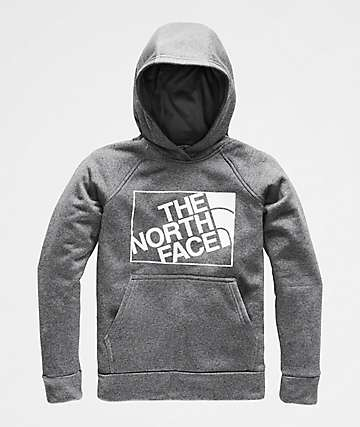 The North Face Boys Surgent 2.0 Grey Heather Hoodie