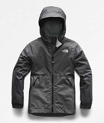 The North Face Boys Warm Storm Graphite Grey Jacket