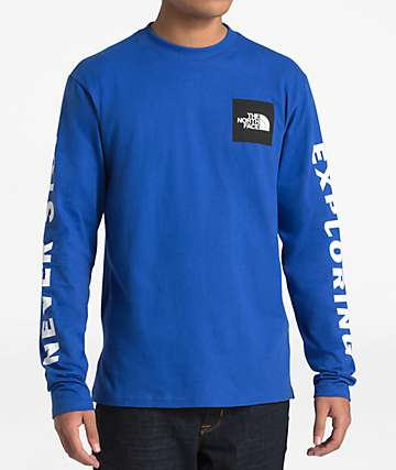 The North Face Collegiate Blue Long Sleeve T-Shirt