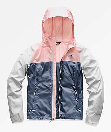 The North Face Cyclone Navy & Pink Windbreaker Jacket