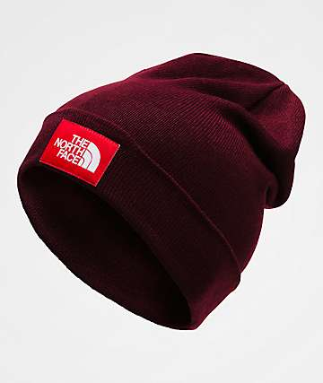 The North Face Dock Worker Garnet Red Beanie