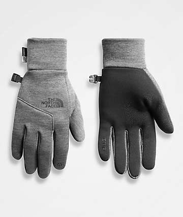 The North Face Etip Grey Snowboard Gloves