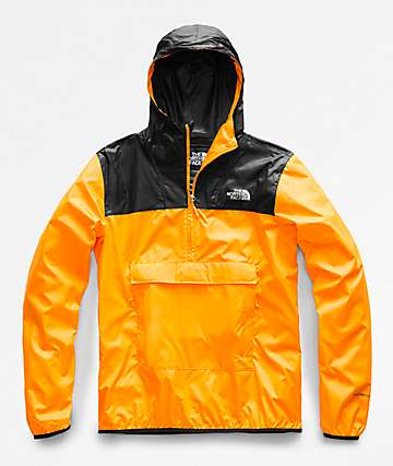 The North Face Fanorak Black & Yellow Anorak Jacket