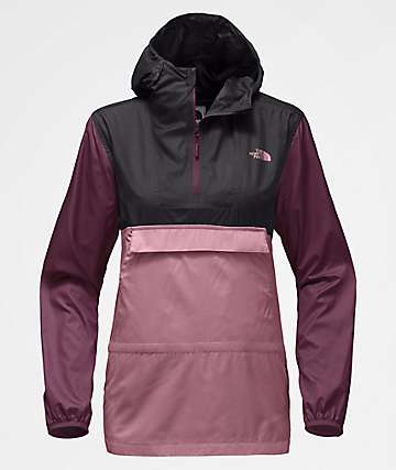 The North Face Fanorak Foxglove Lavender Anorak Windbreaker Jacket