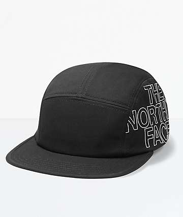 The North Face Five Panel Black Hat
