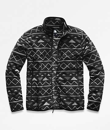 The North Face Glacier Alpine Black Triangle Stripe Tech Fleece Jacket