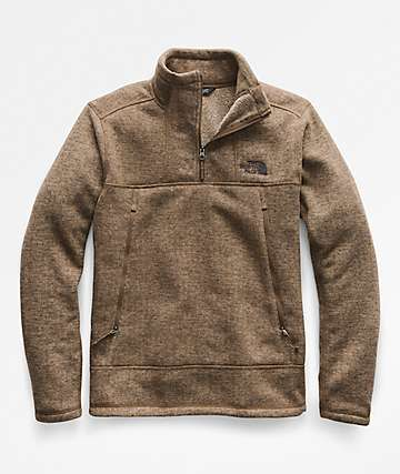 The North Face Gordon Lyons Alpine Quarter Zip Beech Khaki Sweatshirt