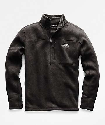 The North Face Gordon Lyons Quarter Zip Black Sweatshirt