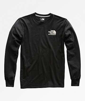 The North Face Gradient Logo Black Long Sleeve T-Shirt