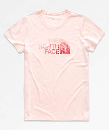 The North Face Half Dome Tri-Blend Pink T-Shirt