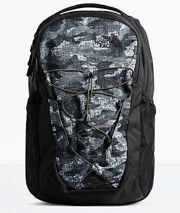 The North Face Jester Textured Camo & Black Backpack
