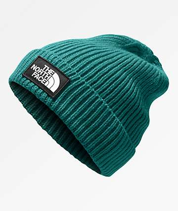 The North Face Logo Box Everglade Beanie