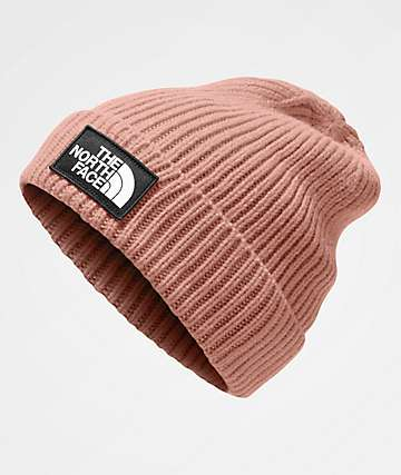 The North Face Logo Box Misty Pink Beanie