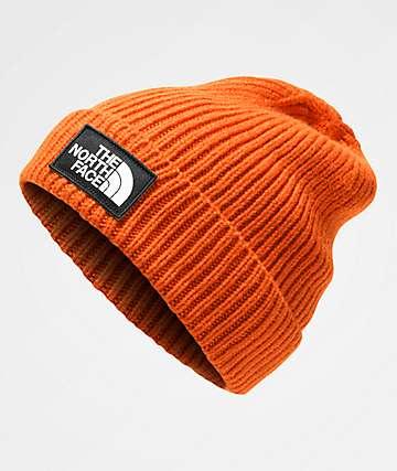 The North Face Logo Box Persian Orange Beanie