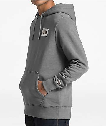 The North Face Patch Grey Hoodie