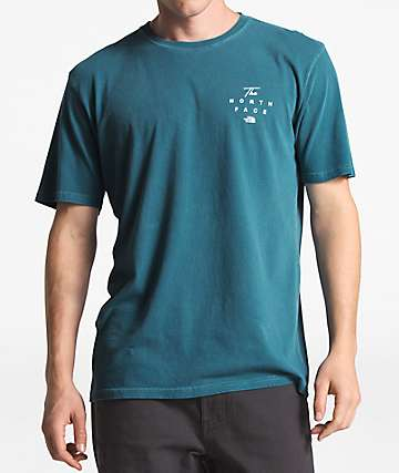 The North Face Pigment Wash Dish Blue T-Shirt