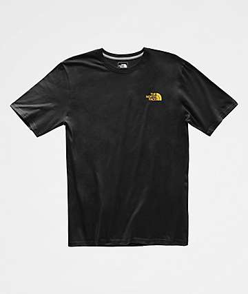 The North Face Red Box Black & Yellow T-Shirt