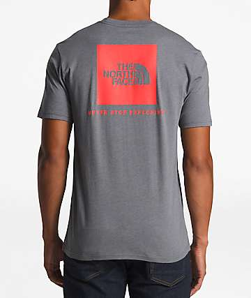 The North Face Red Box Grey & Red T-Shirt