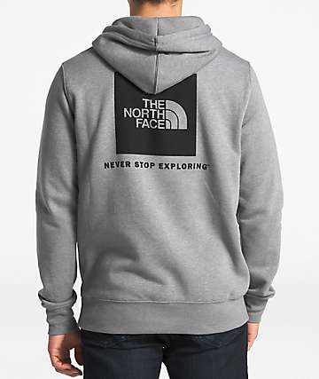 The North Face Red Box Grey & Black Hoodie