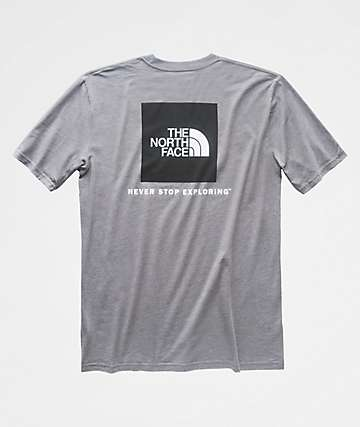 The North Face Red Box Grey & Black T-Shirt