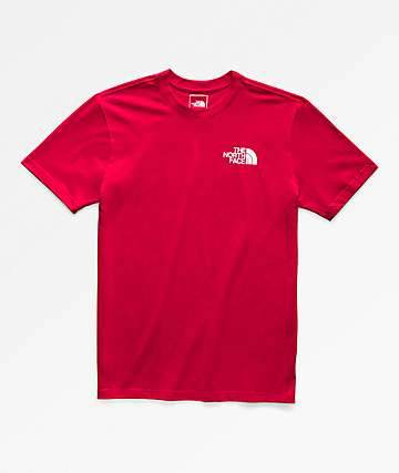The North Face Red Box Red T-Shirt