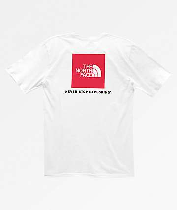 The North Face Red Box White T-Shirt