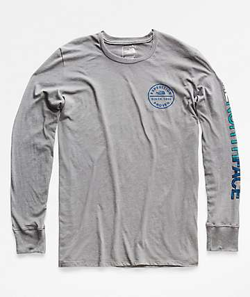 The North Face Scripter Grey Long Sleeve T-Shirt