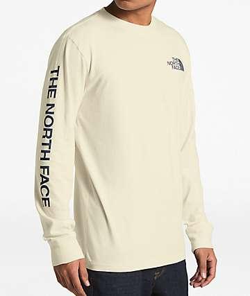 The North Face Sleeve Hit Cream Long Sleeve T-Shirt
