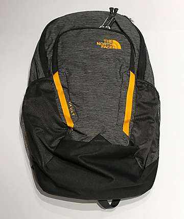 The North Face Vault Grey & Zinnia Orange Backpack