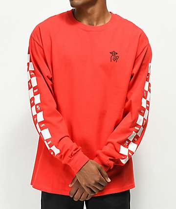 The Quiet Life Checker Red Long Sleeve T-Shirt