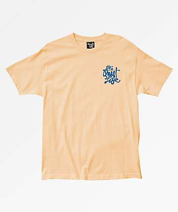 The Quiet Life Cody Script Pastel Orange T-Shirt